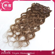 Clips Hair Extensions Natural Wavy Remy Brazilian Clip In Hair Extensions 100g/set