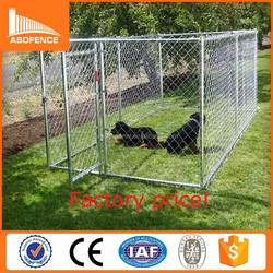 12x10x6 foot classic galvanized outdoor dog kennel