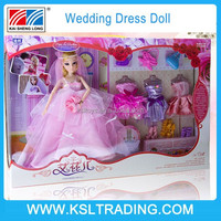 2015 New product wedding dress plastic cheap new baby doll for children