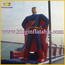 PVC Giant Inflatable Super Man Figures, Inflatable Superman Character