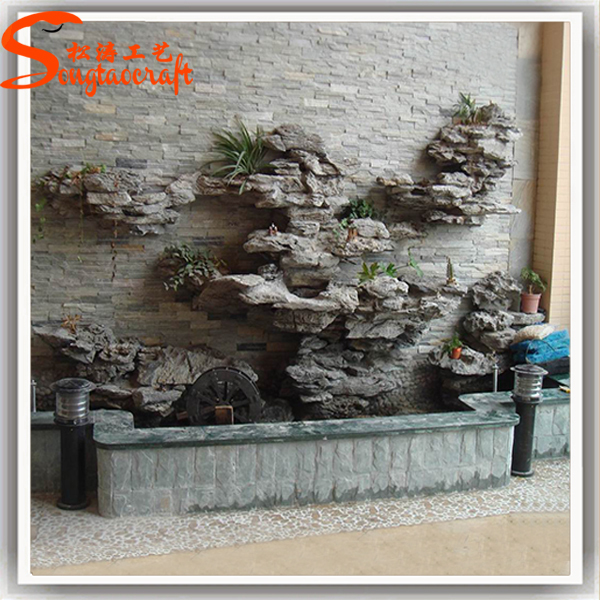 Indoor decor garden pond fiberglass fish ponds stone for Outdoor fish ponds for sale