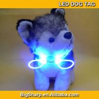 50pcs Cute dog accessories Flashing glow pet Dog Blinker Flashing LED dog Light Tag Safety necklace Collar DP-004