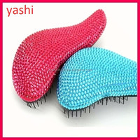YASHI Shinning Rinestone Tangle free hair brush Teezering hair brush