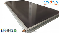 Flat plate water heater solar thermal collector with grid type copper pipe
