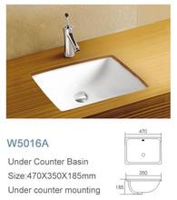 Under table wash square OEM logo face Bahamas basin bathroom
