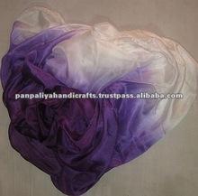sexy Purple belly dance silk veil very light weight silk use for belly dancing