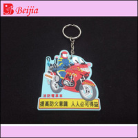 High quality motorcycle keychains/ Soft Rubber Keychains motorcycle / Silicone Keyring
