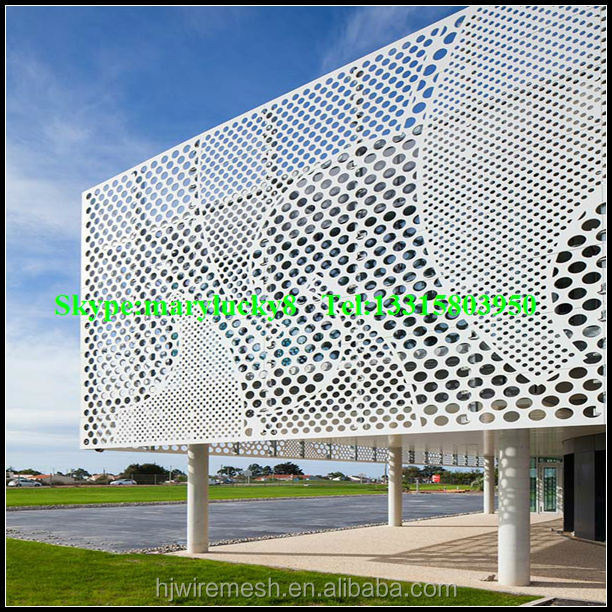 Perforated Aluminum Panels : Wholesale decorative perforated metal wall panel