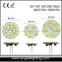 Disc G4 LED Light Bulb G5.3 G6.35 GY6.35 Tailor Made OEM Made G4 LED
