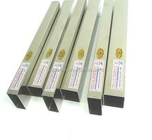Inoxidable tubo cuadrado 20 x 20 mm acero para la decoración de la sala