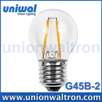 Vintage Lighting LED Filament Light G45 E27 2W Mini LED Globe Filament Lamp G45 2W