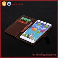 brand desimon flip leather wallet Case for LENOVO Golden Warrior S8 S898T+ 2015 new LOGO custom