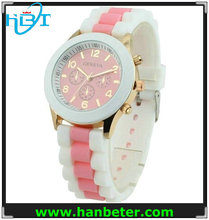 Wholesale item brand geneva watches men silicone colorful with water resistant