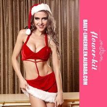 New Fantasy Hot Sale Christmas Costumes Sexy Women Lingerie Adult Santa Suit