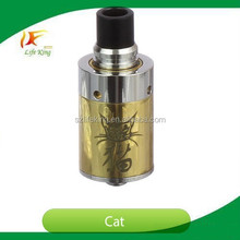 Rebuildable atomizer rda cat with cute image cat on vaporizer for mechanical e cigarette cat atomizer
