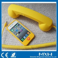 Portable Coco Phone Handset With Rubber Coating For Anti Radiation