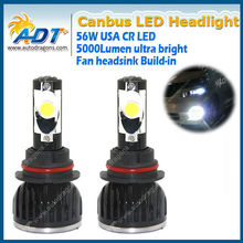 Canbus no error code 56w 5000lm led headlight kits high low beam 9007 9004