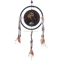 Lisa Parker Barn Owl Feather Print Dreamcatcher
