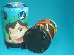 can holder/beer cooler/neoprene stubby holder With plastic base