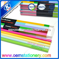 5 into color box 7 inches two color logo wood cylindrical pencil sharpening