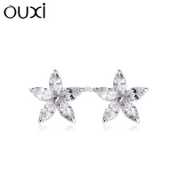 OUXI 2015 Hot sale products silver jewellery earring stud Y20186