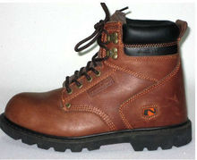 Export nubuck leather,steel toe and steel midsole safety work shoes