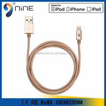 made in china MFI Certified braided 2 in 1 USB cable for Apple mfi usb cable,for iphone 6 cable