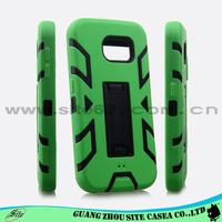 New Design Silicon PC Cell Phone Cover For Samsung Galaxy S6 with kickstand