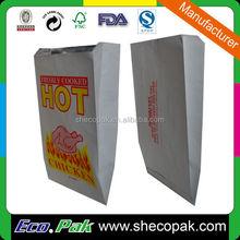 Manufacturer aluminum foil lined paper bag, hot chicken foil lined pack