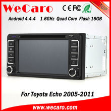 Ultra HD Quad Core car dvd android For Toyota Echo 2007 GPS navigator TV Radio tuner CD Player