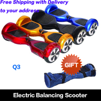 Self Balancing Scooter 6.5 inch electric scooter with LED light of electric