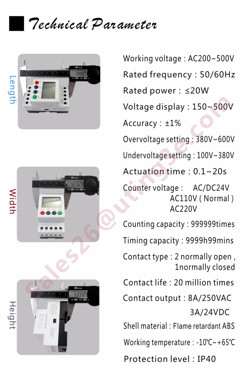 Overvoltage Protection Relaythree Phase Voltage Protective Relay Current Level Digital Over Under Three Rd6 W