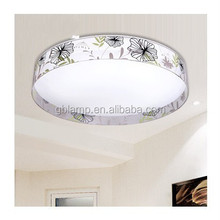 Round ceiling light, glass led ceiling lamp for home decorative