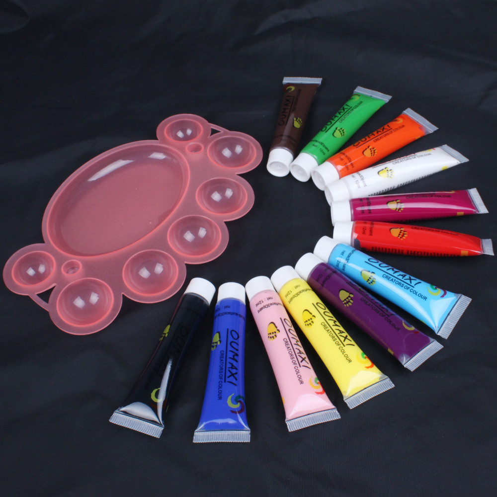 UVTL106 12 Colors 3D Paint Tube