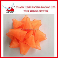 Beautiful gift craft polyester ribbon star bow