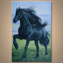 caliente venta de caballo retrato pintura al óleo
