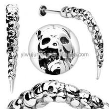 Artistic Skull Carved Long Claw Labret Stud Skull Lip Piercing