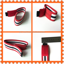 elastic belts strap red/white/black colors stripes