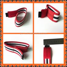 elastic belts strap red/white/black colors stripes