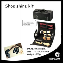 professional shoe care products with brush,cream,cloth,horn