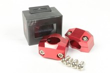 HR-003 Red CNC Billet Aluminum bicycle motorcycle handlebar risers Clamps for street bike