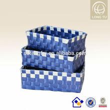 Cuarto de baño barato de almacenamiento cesta pp trenza de cesta/plástico cesta de mimbre