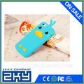 2015 eco- ambiente de encargo de los animales de pollo de silicona de regalo caja del teléfono celular para el iphone 5/5s