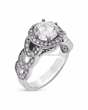 solid 18k white gold 750 diamond ring jewelry china supplier