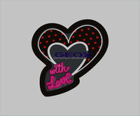 10*10cm cut heart shape led panel for shoes led shoes panel with lithium battery
