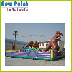 Giant dinasaur inflatable bounce house like a magic castle inflatable party bouncers