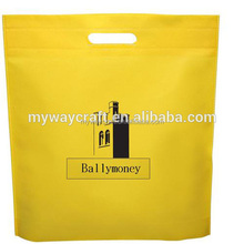 hot sale yellow pp non-woven bag tote