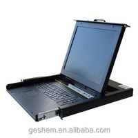 "KVM-GS1500M 1U rack mount Keyboard and 15"" monitor"