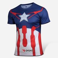 Wholesale Marvel Captin America t shirt the avengers 2 t shirt