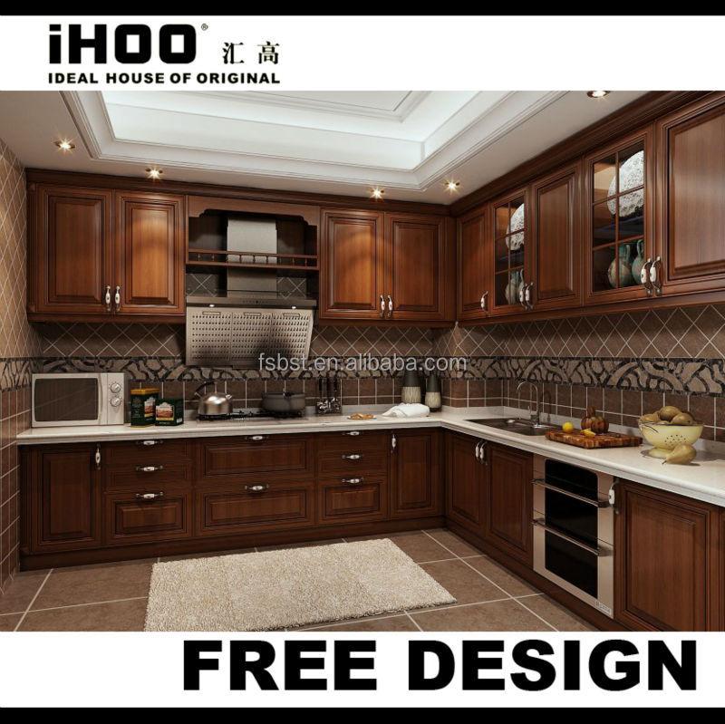 American style antique brun fonc meubles de cuisine for Armoire de cuisine style antique
